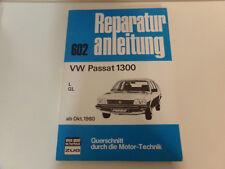 Reparaturanleitung VW Passat 1300 * L * GL * ab 1980  *  Bucheli