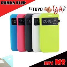 FUNDA FLIP COVER VIEW HTC ONE M8 CARCASA TIPO LIBRO