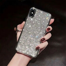 Bling Crystal Silver Cute Protective Case Cover For iPhone 7 8 XS XS MAX
