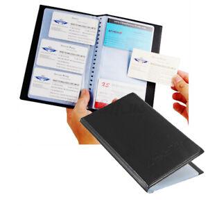 Business Name ID Credit Card Holder 120 Slots Leatherette Storage Organizer