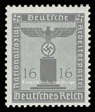 EBS Germany 1938 16 Pfennig Nazi Party Official Dienstmarke Michel 151 MNH**