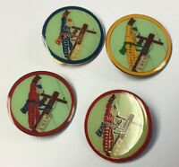 Lot of Maryland District 4 Little League Pins Power Pole Lineman Red Blue Yellow