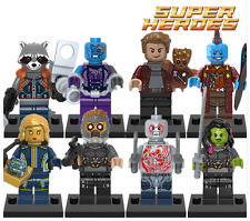 8 PC accoppiamenti LEGO MINIFIGS MARVEL GUARDIANI DELLA GALASSIA STAR-LORD MINI Groot