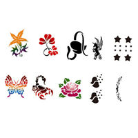 10pc Animal Reusable Face Paint Stencil Body Tattoo Painting Makeup Template