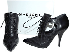 $1295 Givenchy Lace Ankle Boots Bottine Show Pointy Toe Pump Brogue Bootie 38