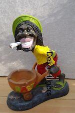 Rasta Man Mit Schubkarre Black Boy Afrika Hanf Skulptur Reggae Rum Figur Groß