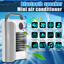 Mini Air Cooling Fan Portable Speaker With FM bluetooth Humidifier LED Light