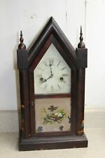 Ansonia 30 hour Steeple or Gothic Shelf Clock for Parts or Repair.