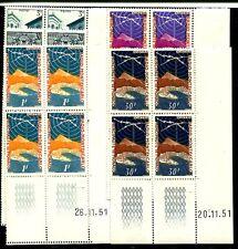 Monaco 1951 441-442, 448-450 ** viererblocks + fecha de impresión 148 € + + (j1527