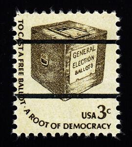 1584a Americana Series 3c Ballot Box National Bureau Precancel MNH