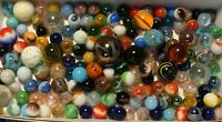 150 Marbles Modern Vintage Toys Games Shooters Swirls Cats Carnival Multicolor