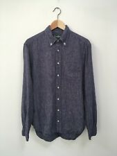 Gitman Vintage Blue French Linen Button Up Oxford Size Medium Made In USA NWOT
