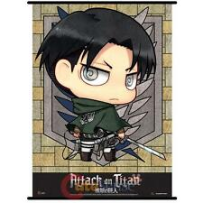 Attack on Titan Levi Wall Scroll GE60569 Anime Fabric Banner Poster