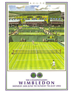 2002 Wimbledon Tennis Tournament  Ad Poster, 8x10 Color Photo