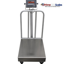 """Portable Bench Scale with Wheels 18"""" x 24 500 lb x 0.1 lb NTEP OP-915BW"""