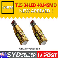T10/T15 4014SMD 34LED w/ Lens LED Bulb For Backup Reverse Light Super White 2PCS