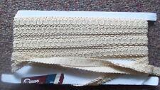 9 + Yds CREAM light gold ECRU crafting UPHOLSTERY pillow sewing notion TRIM GIMP