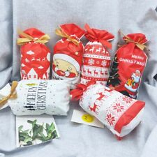 5/10/20 Christmas Sacks Reusable Drawstring Wrap Present Gift Party Bags Storage