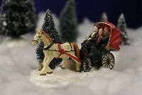 Horse and Buggy Christmas Village Figurine