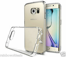 Slim Transparent Crystal Clear Hard TPU Case Cover For Samsung Galaxy S6 Edge +