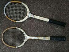 2 Vintage Wooden Tennis Rackets - Spalding - Grays
