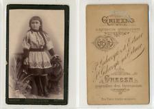 Gniezno, Petite fille de Pologne CDV vintage albumen Tirage albuminé