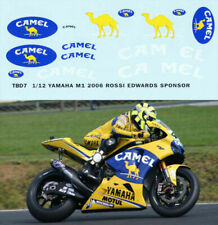 1/12 VALENTINO ROSSI YAMAHA M1 2006 CAMEL BIKE FIGURE DECALS TB DECAL TBD7