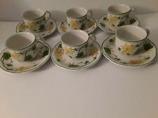 VILLEROY & BOCH GERANIUM 6 CUPS AND 6 SAUCERS NEW