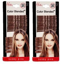 Mia Bobby Pins, Color Blended Brown, for Updos, Criss Cross Designs 2pks, 100cs