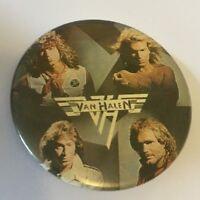 Van Halen David Lee Roth Eddie 80s Pinback Button Badge Pin Retro Vintage 34