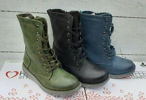 Ladies Heavenly Feet Martina 3 Mid calf Lace & Zip Vegan friendly Boots