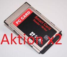2 Stück SCM SCR243 PCMCIA Cardreader/writer Chipkartenleser HBCI
