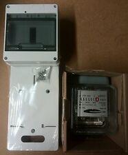 Zählertafel und Wechselstromzähler mit Sicherungskasten(7xTE),neu,TL-1F-N+PE