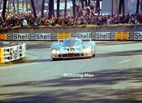JW GULF RACING PORSCHE 917 917L PEDRO RODRIGUEZ OLIVER LE MANS 1971 PHOTOGRAPH
