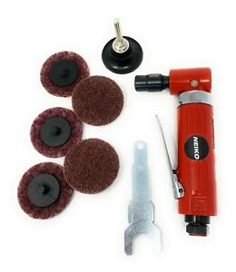 Heavy Duty 1/4-inch Angle Air Die Grinder 7 Pc Combo Kit