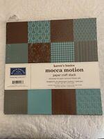 New Karen Foster 12 by 12 Basics Paper Craft Stack, Mocca Motion, 84-Sheet