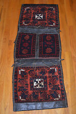 ANTIQUE PILE SADDLE BAG HEYBE ANATOLIAN YORUK KURD