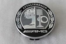 Genuine Mercedes-Benz Alloy Wheel AMG Affalterbach Black Centre Hub Caps Set NEW