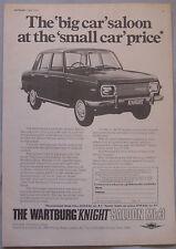 1970 Wartburg Knight saloon Mk3 Original advert
