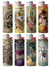 New BIC Special Edition Tattoos Series Lighters, Set of 8 Lighters Great Gift
