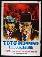 Manifesto Toto' Peppino De Philip The Fanatics Antonio De Curtis M69