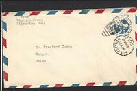 SILVERTON,COLORADO,AIR MAIL COVER TO MAINE, SAN JUAN CO. 1875/OP.