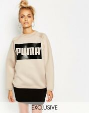 Women Puma Box Logo High Neck Sweatshirt - (Chrystal Gray) - UK S - 8