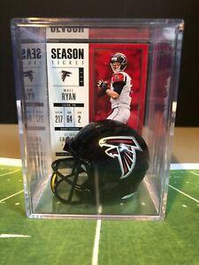 ATLANTA FALCONS NFL Players Mini Helmet Shadowbox w/ card