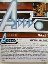 Heroclix mvid - 100 TIGRA ID-CARD