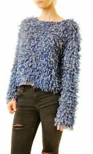 For Love & Lemons Women's Joplin Sweater Blue RRP $220 BCF68