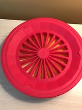 15 Pink Yellow Plastic Paper Plate Holders Parties  Picnic BBQ Camping Washable