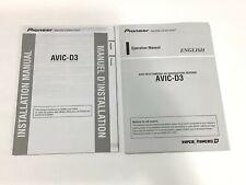 PIONEER  OWNER  MANUAL FOR DVD  MULTIMEDIA  RECEIVER    AVIC-D3