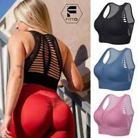 Women's Seamless Sports Yoga Bra Top Padded Fitness Gym Crop Activewear Top G12
