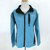 North Face Summit Series Jacket Women's Size L Gore Tex XCR Full Zip Collar Blue
